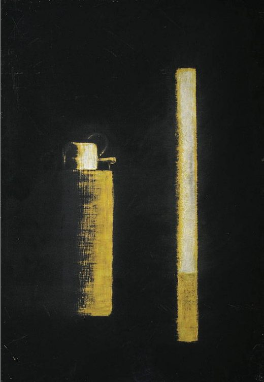 Cigarette and lighter (self portrait)